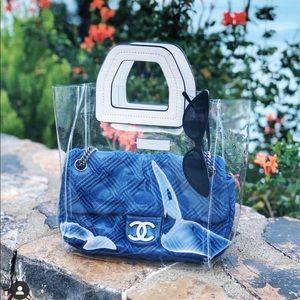 Mango clear vinyl handbag